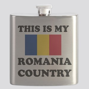 This Is My Romania Country Flask