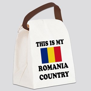 This Is My Romania Country Canvas Lunch Bag