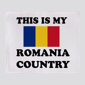 This Is My Romania Country Throw Blanket