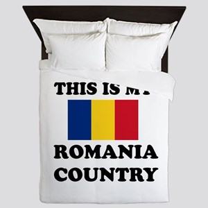 This Is My Romania Country Queen Duvet