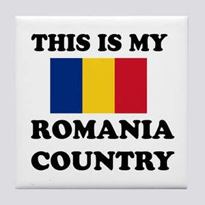 This Is My Romania Country Tile Coaster