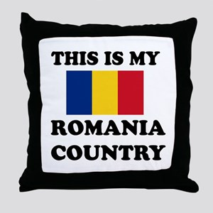 This Is My Romania Country Throw Pillow