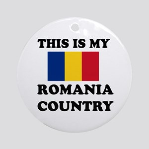 This Is My Romania Country Round Ornament
