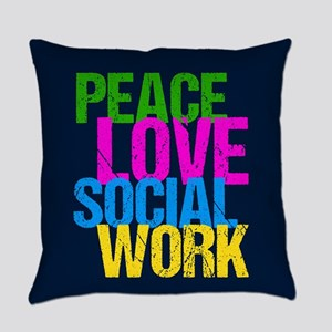 Social Work Cute Everyday Pillow