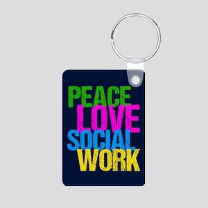 Social Work Cute Aluminum Photo Keychain
