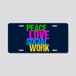 Social Work Cute Aluminum License Plate