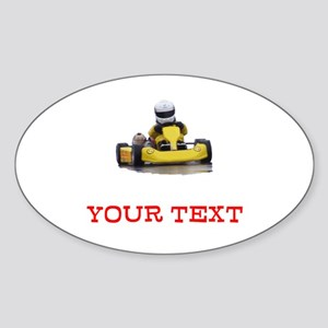 Customizable Yellow Kid Kart Sticker