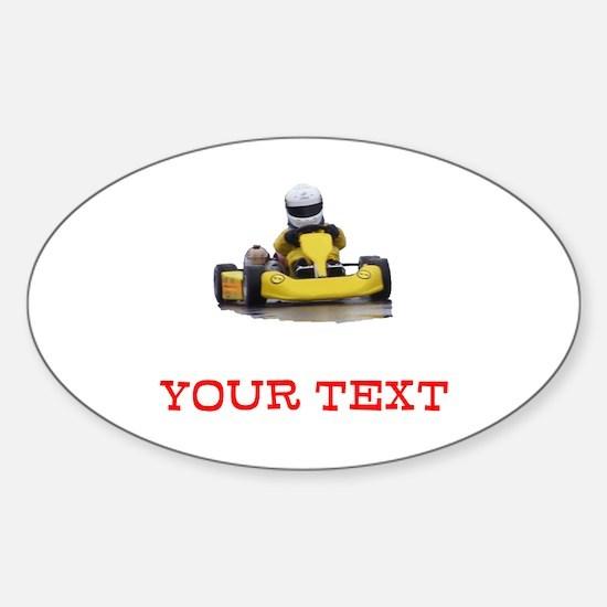 Customizable Yellow Kid Kart Decal