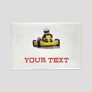 Customizable Yellow Kid Kart Magnets