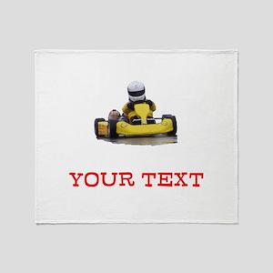 Customizable Yellow Kid Kart Throw Blanket