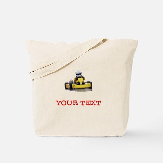 Customizable Yellow Kid Kart Tote Bag