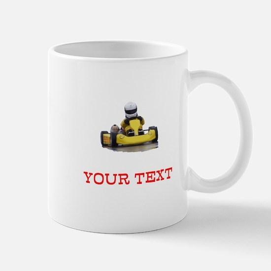Customizable Yellow Kid Kart Mugs