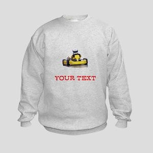 Customizable Yellow Kid Kart Sweatshirt