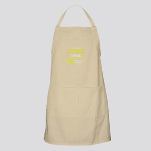 LAYNE thing, you wouldn't understand! Apron