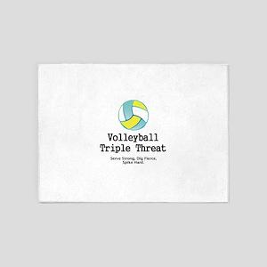 Volleyball Slogan 5'x7'Area Rug