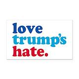 "Love trumps hate car 3"" x 5"""