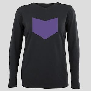 Hawkeye Chest Emblem Plus Size Long Sleeve Tee