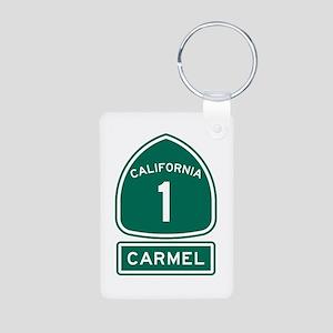 Carmel California Aluminum Photo Keychain