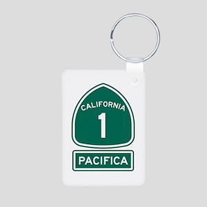 Pacifica California Aluminum Photo Keychain