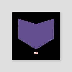 "Hawkeye Chest Emblem Square Sticker 3"" x 3"""