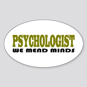 Funny Psychologist Oval Sticker