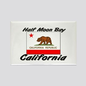 Half Moon Bay California Rectangle Magnet