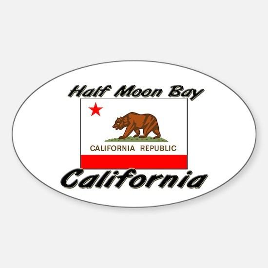 Half Moon Bay California Oval Decal