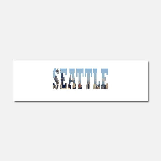 Seattle Car Magnet 10 x 3