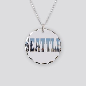 Seattle Necklace Circle Charm