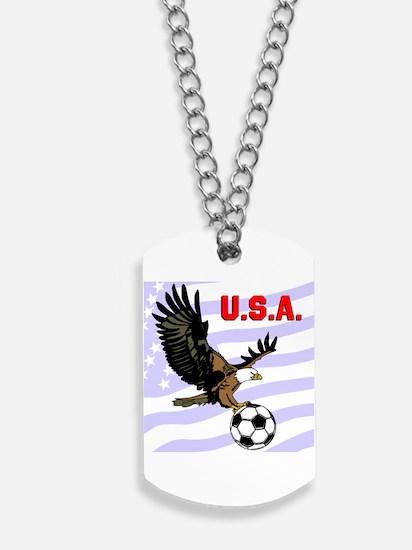 USA Soccer Eagle Dog Tags