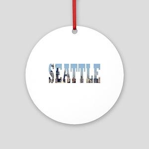 Seattle Round Ornament