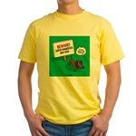 Dangerous Dachshund Yellow T-Shirt