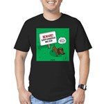 Dangerous Dachshund Men's Fitted T-Shirt (dark)