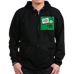 Dangerous Dachshund Zip Hoodie (dark)