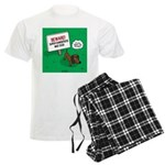 Dangerous Dachshund Men's Light Pajamas