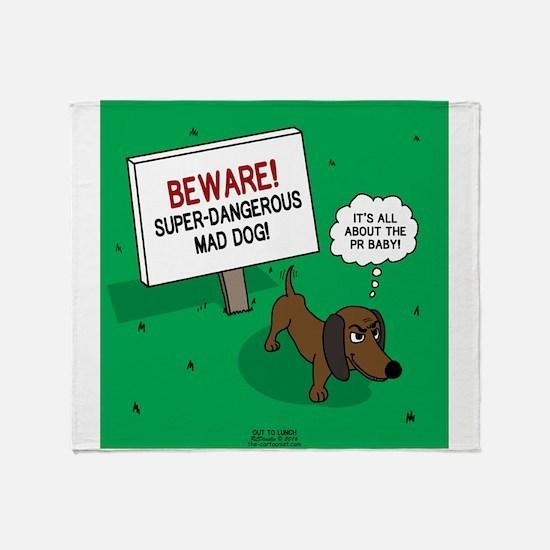Dangerous Dachshund Throw Blanket