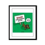 Dangerous Dachshund Framed Panel Print