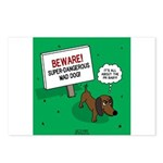 Dangerous Dachshund Postcards (Package of 8)