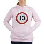 13 Women's Hooded Sweatshirt