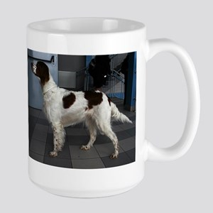 irish red and white setter Mugs