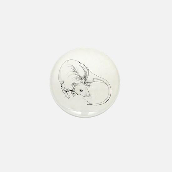 Hairless Mini Button