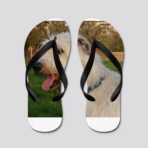 irish wolfhound cream profile Flip Flops