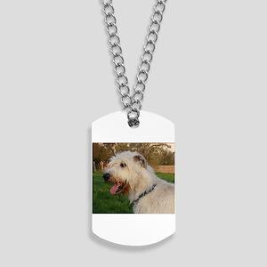 irish wolfhound cream profile Dog Tags