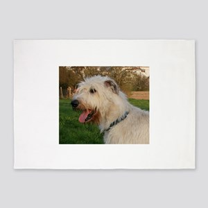 irish wolfhound cream profile 5'x7'Area Rug