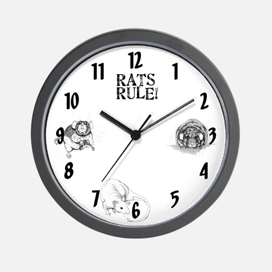 Rats Rule Wall Clock