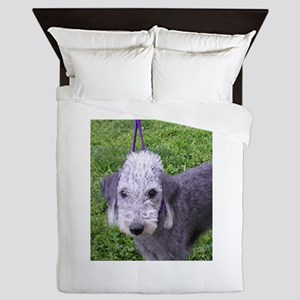 bedlington terrier grey Queen Duvet