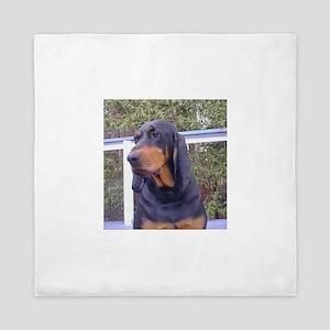 black and tan coonhound Queen Duvet