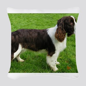 english springer spaniel liver full Woven Throw Pi