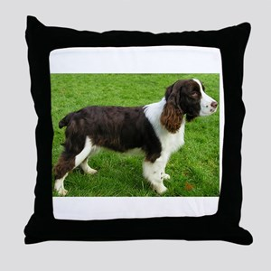 english springer spaniel liver full Throw Pillow