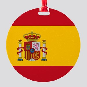 Spanish Flag Round Ornament